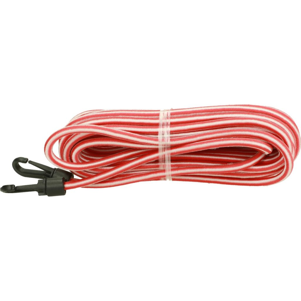 Elastic cord with hooks